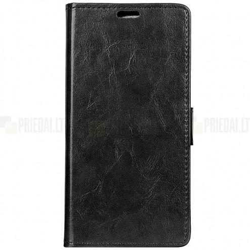 Huawei Mate 20 Pro atvēramais ādas melns maciņš (maks)