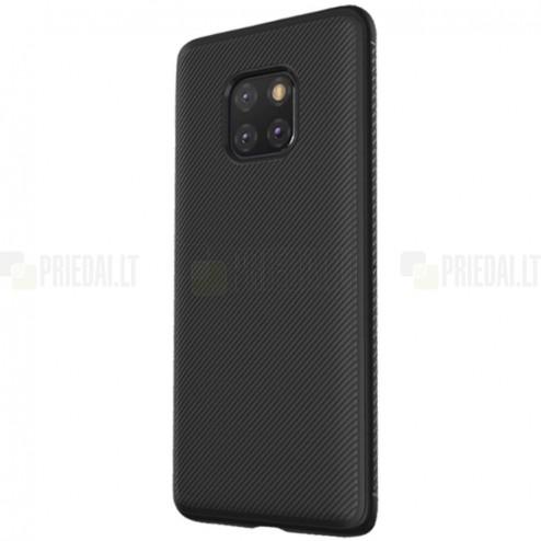 "Huawei Mate 20 Pro ""Lenuo"" cieta silikona (TPU) melns apvalks"