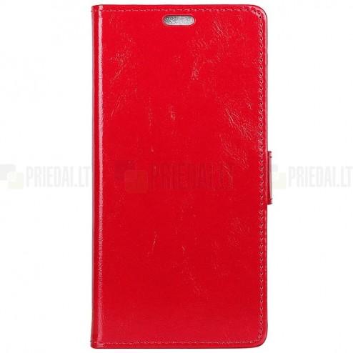 Huawei Mate 20 Pro atvēramais ādas sarkans maciņš (maks)