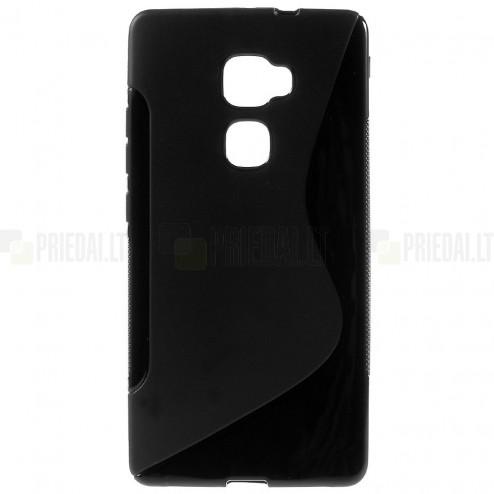 Huawei Mate S cieta silikona (TPU) melns un matēts apvalks