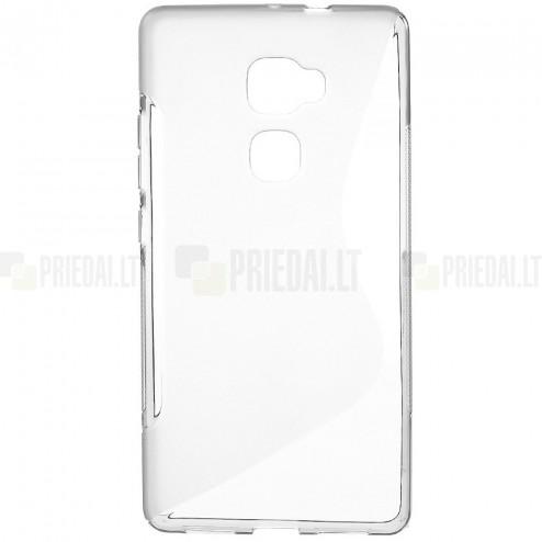 Huawei Mate S cieta silikona (TPU) dzidrs (pelēks) un matēts apvalks