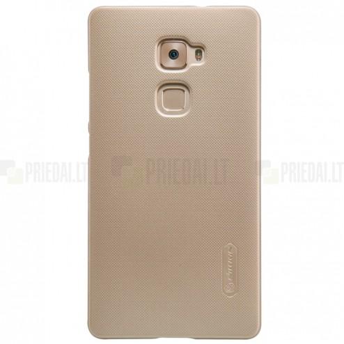 Huawei Mate S Nillkin Frosted Shield zelta plastmasas apvalks + ekrāna aizsargplēve