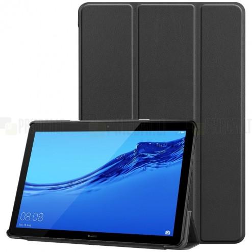 Huawei MediaPad T5 10 atvēramais melns maciņš