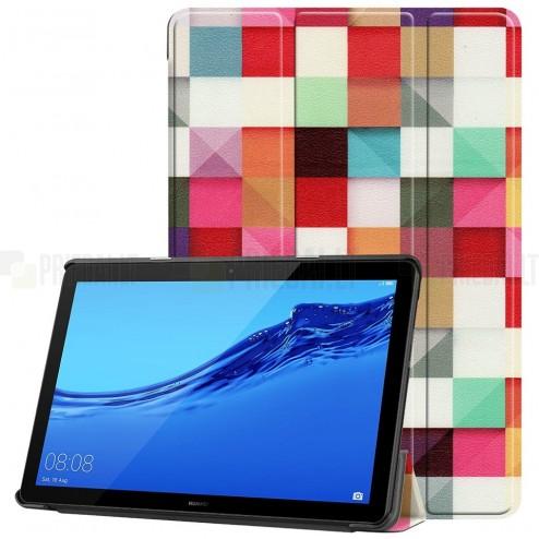 Huawei MediaPad T5 10 atvēramais krāsains maciņš