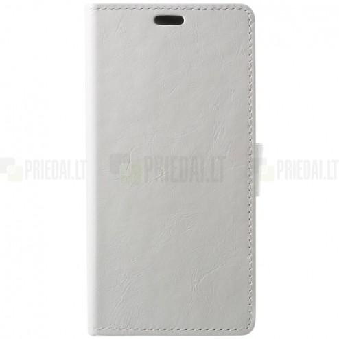 Huawei P20 Pro atvēramais ādas balts maciņš, grāmata (maks)