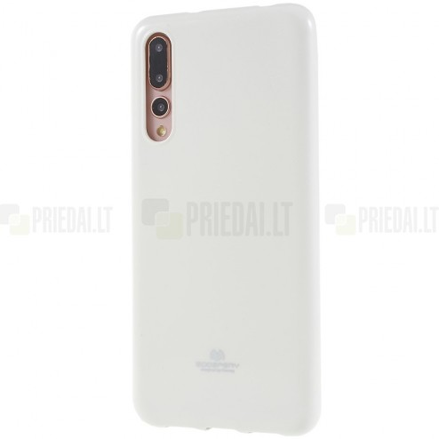 Huawei P20 Pro Mercury balts cieta silikona (TPU) apvalks