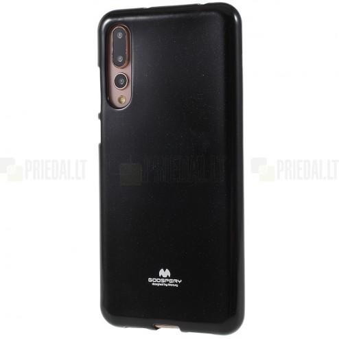 Huawei P20 Pro Mercury melns cieta silikona (TPU) apvalks