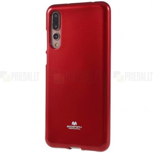 Huawei P20 Pro Mercury sarkans cieta silikona (TPU) apvalks