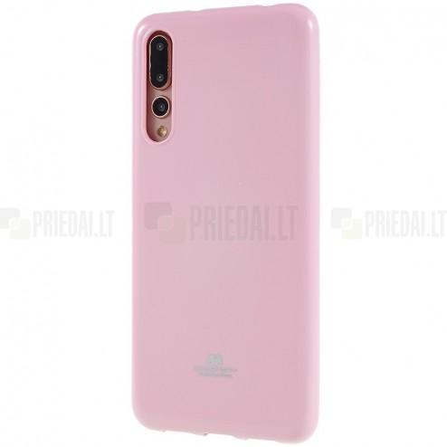 Huawei P20 Pro Mercury gaiši rozs cieta silikona (TPU) apvalks