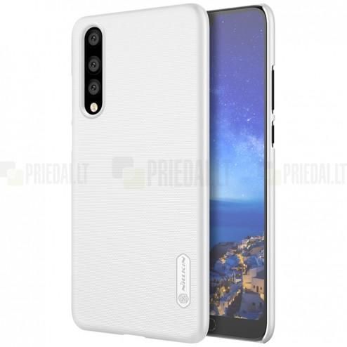 Nillkin Frosted Shield Huawei P20 Pro balts plastmasas futrālis + ekrāna aizsargplēve
