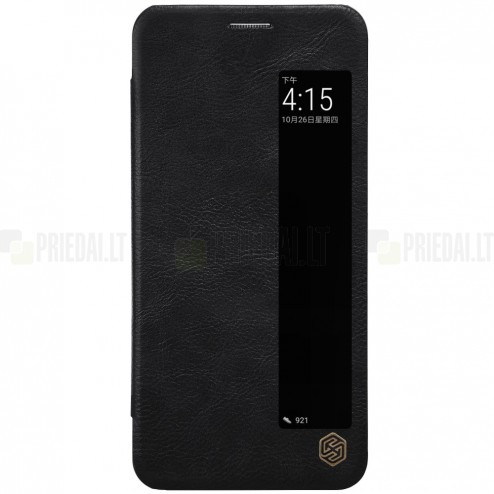 """Greznais """"Nillkin"""" Qin sērijas ādas atvērams melns Huawei P20 Pro maciņš"""