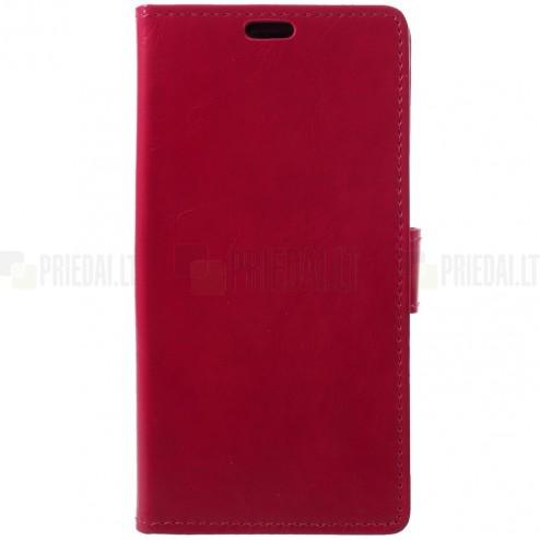 Huawei P20 Pro atvēramais ādas sarkans maciņš, grāmata (maks)