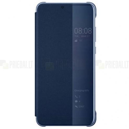 Oficiāls Huawei P20 Pro Smart View Flip Cover zils atvērams maciņš (maks)