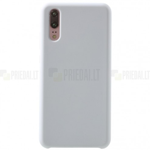 Huawei P20 Shell cieta silikona (TPU) apvalks - balts