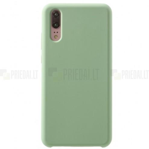 Huawei P20 Shell cieta silikona (TPU) apvalks - zaļš