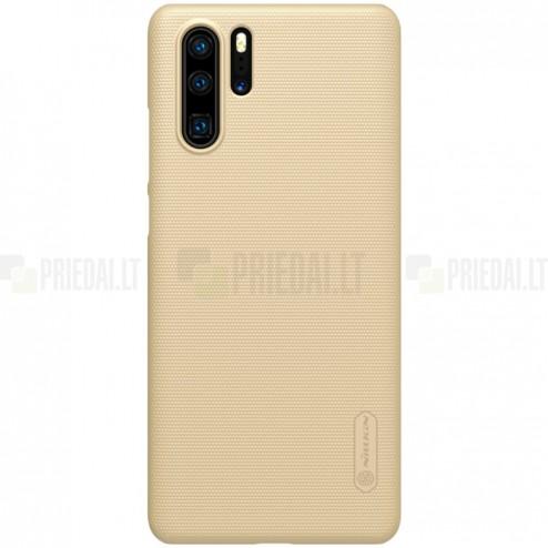 Nillkin Frosted Shield Huawei P30 Pro zelta plastmasas futrālis