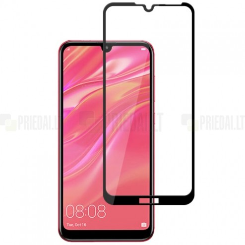 Huawei Y7 2019 (Y7 Prime 2019) Mocolo Tempered Glass melns ekrāna aizsargstikls