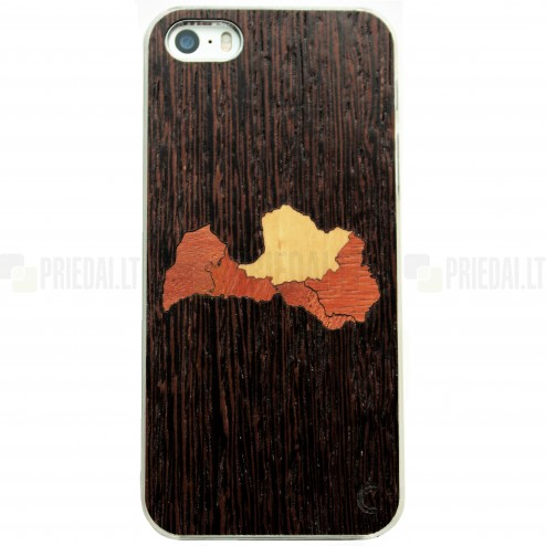 "Apple iPhone 5s ""Crafted Cover"" Latvija dabīga koka telefona apvalks"