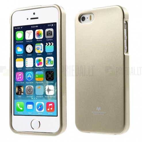 Apple iPhone 5 (5S) Mercury zelta cieta silikona (TPU) apvalks