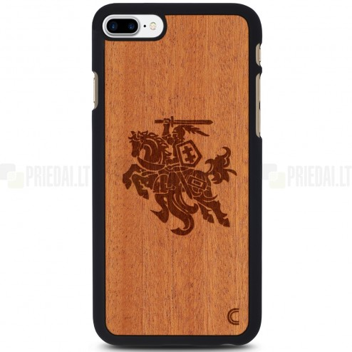 "Apple iPhone 7 Plus (iPhone 8 Plus) ""Crafted Cover"" Vytis dabīga koka telefona apvalks"