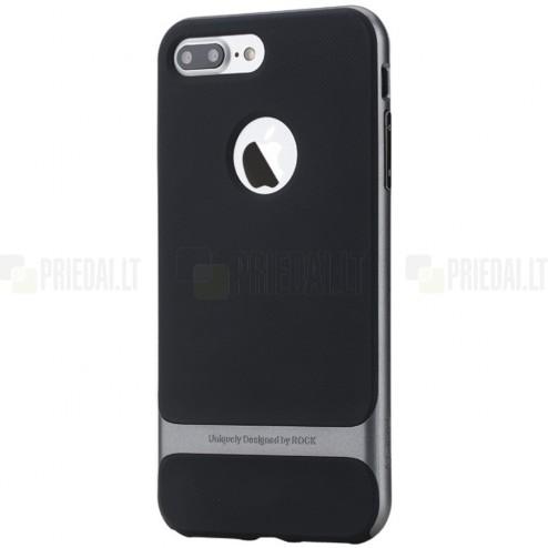 """""""Rock"""" Royce pastiprinātas aizsardzības melns apmales pelekā krāsā Apple iPhone 7 Plus (iPhone 8 Plus) apvalks"""
