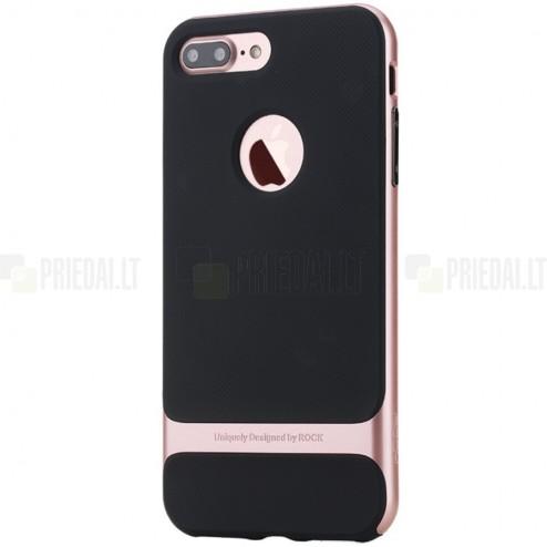 """""""Rock"""" Royce pastiprinātas aizsardzības melns apmales rozā krāsā Apple iPhone 7 Plus (iPhone 8 Plus) apvalks"""