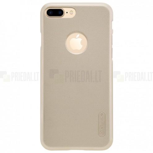 Apple iPhone 7 Plus (iPhone 8 Plus) Nillkin Frosted Shield zelta plastmasas apvalks + ekrāna aizsargplēve