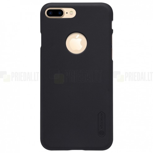 Apple iPhone 7 Plus (iPhone 8 Plus) Nillkin Frosted Shield melns plastmasas apvalks