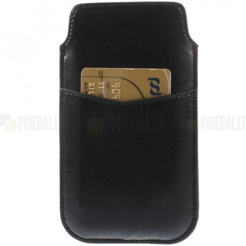 Melna ādas telefona ieliktņa (L izmērs)