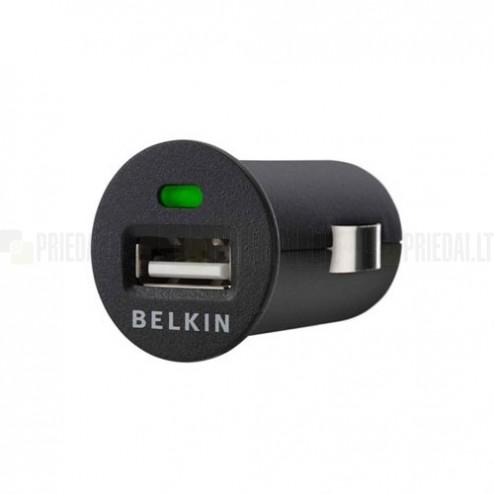 "Melns, zema profila, ergonomisks ""Belkin"" mini autolādētājs"