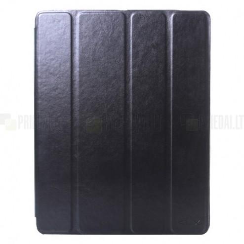 """""""Kalaideng"""" Enland Apple iPad 4 (iPad 3, 2) atvēramais melns maciņš"""