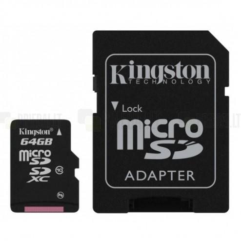 """Kingston"" MicroSD atmiņas karte 64 Gb, 10 klase ar SD adapteri"