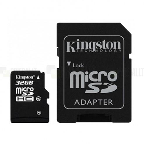 """Kingston"" MicroSD atmiņas karte 32 Gb, 10 klase ar SD adapteri"