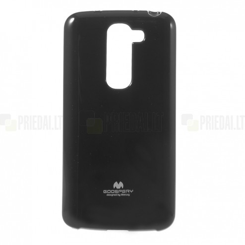 LG G2 mini D620 Mercury melns cieta silikona (TPU) futrālis