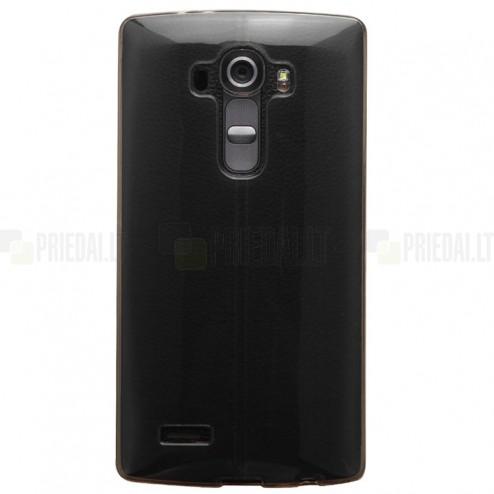 LG G4 (H815, H810) dzidrs (caurspīdīgs) cieta silikona TPU pasaulē planākais pelēks apvalks