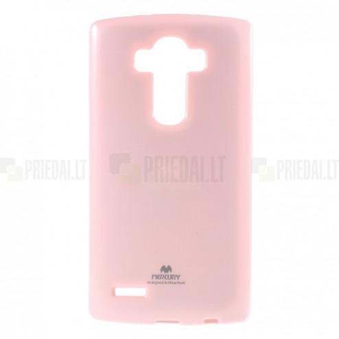 LG G4 (H815) Mercury gaiši rozs cieta silikona (TPU) apvalks