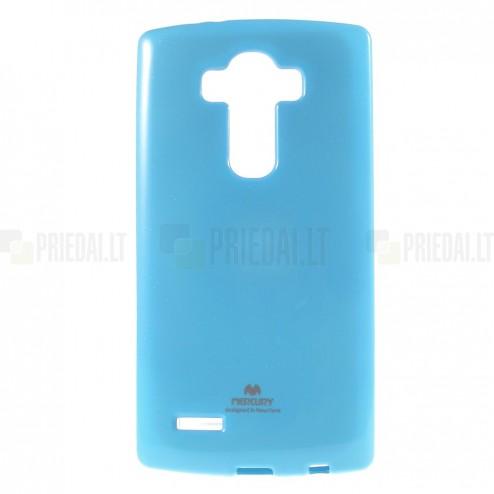 LG G4 (H815) Mercury gaiši zils cieta silikona (TPU) apvalks