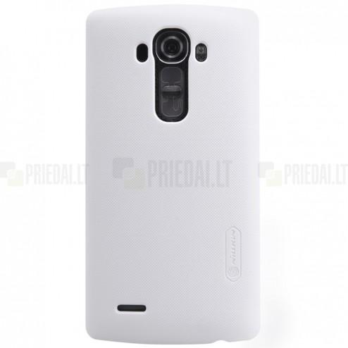 LG G4 (H815) Nillkin Frosted Shield balts plastmasas apvalks + ekrāna aizsargplēve