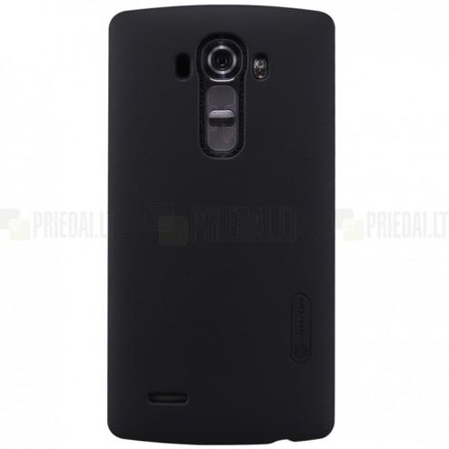 LG G4 (H815) Nillkin Frosted Shield melns plastmasas apvalks + ekrāna aizsargplēve