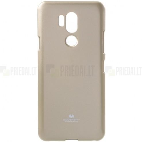 LG G7 ThinQ Mercury zelta cieta silikona (TPU) apvalks