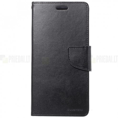 """Mercury"" Bravo Diary LG G7 ThinQ (G710EM) melns ādas maciņš"