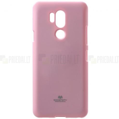 LG G7 ThinQ Mercury gaiši rozs cieta silikona (TPU) apvalks