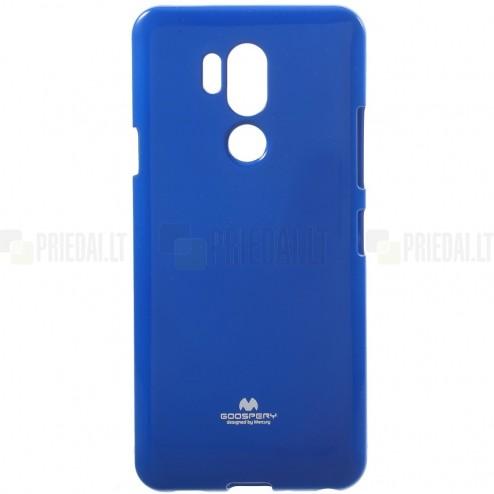 LG G7 ThinQ Mercury tumši zils cieta silikona (TPU) apvalks