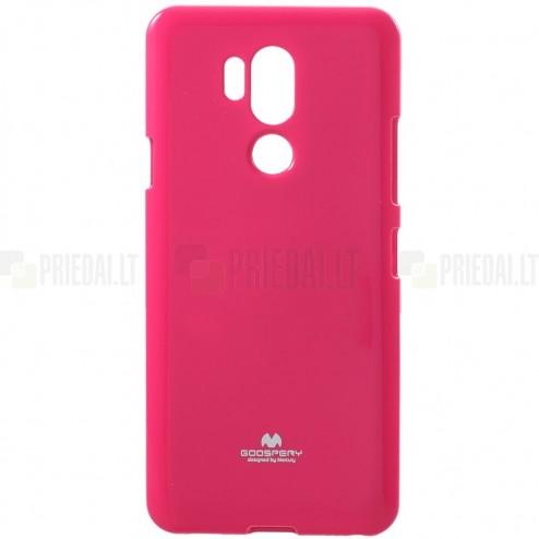 LG G7 ThinQ Mercury tumši rozs cieta silikona (TPU) apvalks