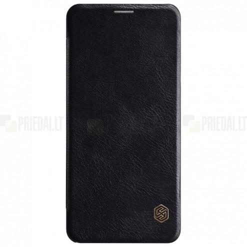 """Greznais """"Nillkin"""" Qin sērijas ādas atvērams melns LG G7 ThinQ maciņš"""