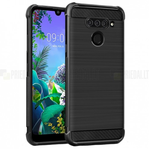 "LG Q60 ""Imak"" cieta silikona (TPU) melns apvalks"