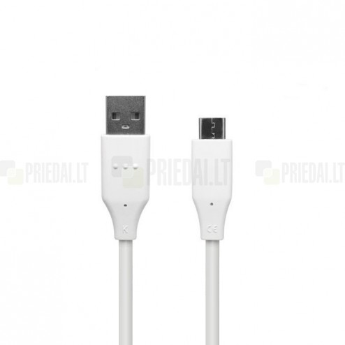 Oficiāls LG USB Type-C balts vads 1 m. (DC12WK-G, origināls)