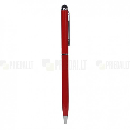 Sarkans tausts ar instalēto rakstamo (ang. Stylus Pen)