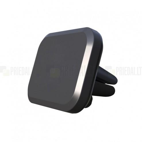 Magnētisks melns telefona autoturētājs (pie ventilācikas režģiem)