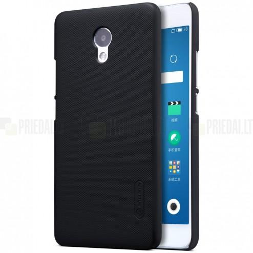 Meizu m5 note Nillkin Frosted Shield melns plastmasas apvalks + ekrāna aizsargplēve
